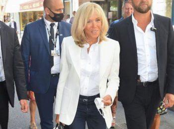 Brigitte Macron : ses baskets compensées fétiches sont d'une marque française