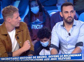 """""""Je n'ai pas de mec !"""" : Bruno (Les 12 Coups de midi) se lâche en direct dans TPMP... sous le charme, Matthieu Delormeau tente une approche"""