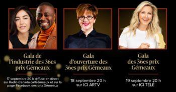 Gala des 36es prix Gémeaux : Maïka Desnoyers, Mélissa Bédard et plusieurs autres personnalités remettront les prix