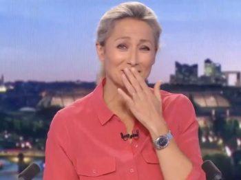 """""""Veuillez m'excuser"""", incident en plein JT de 20 heures, Anne-Sophie Lapix incapable de garder son calme..."""
