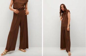 Carla Ginola : on craque pour son ensemble marron à petits prix signé Mango